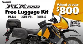 KLR650 NOW WITH LUGGAGE PACK WORTH $800